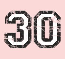 Number 30 Vintage 30th Birthday Anniversary Kids Clothes
