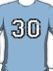 Number 30 Vintage 30th Birthday Anniversary T-Shirt
