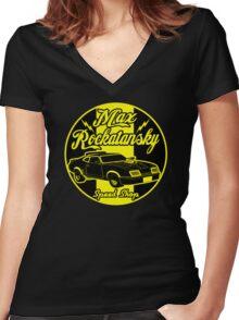 Rockatansky speed shop Women's Fitted V-Neck T-Shirt