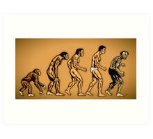 Zombie Evolution Art Print