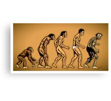 Zombie Evolution Canvas Print