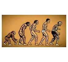 Zombie Evolution Photographic Print