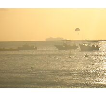 Crowded Harbour Photographic Print