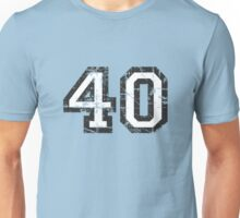 Number 40 Vintage 40th Birthday Anniversary Unisex T-Shirt