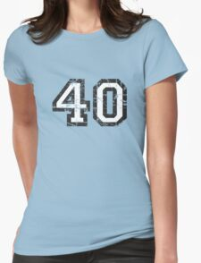Number 40 Vintage 40th Birthday Anniversary Womens Fitted T-Shirt