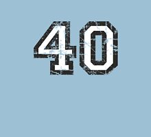 Number 40 Vintage 40th Birthday Anniversary T-Shirt