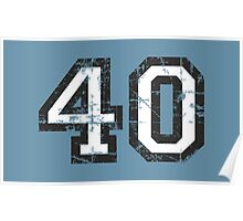 Number 40 Black/White Vintage 40th Birthday Design Poster