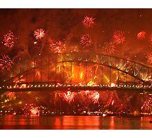 Explosions Around the Bridge (Sydney) Photographic Print
