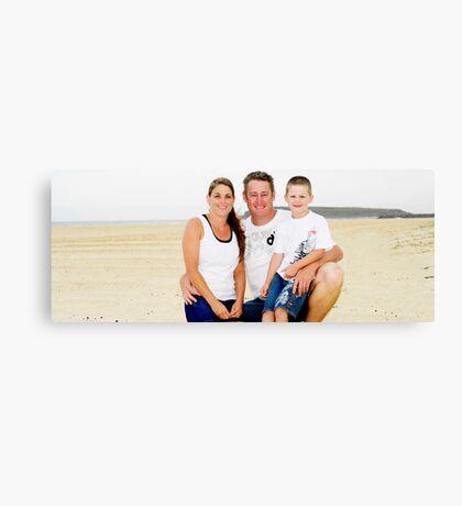 Hardaker Family on Windang Island Canvas Print