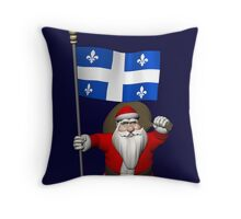 Santa Claus Visiting Quebec Throw Pillow