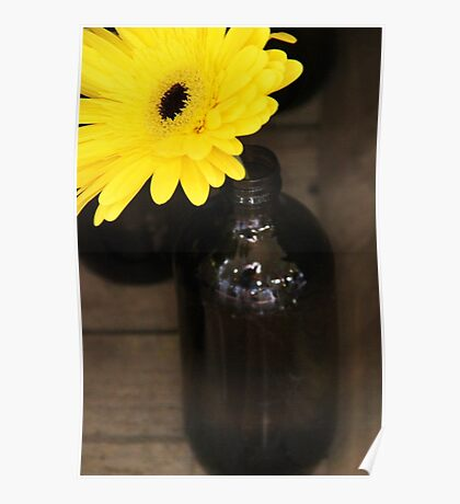 Gerbera Bottle Poster