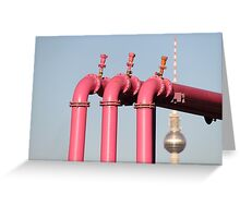 Pink Pipes Greeting Card