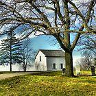 The Hauge Log Church (Est. 1852) by wiscbackroadz