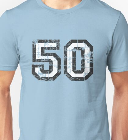 Number 50 Vintage 50th Birthday Anniversary Unisex T-Shirt