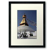 Boudnath stupa Framed Print