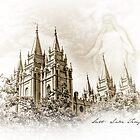 PhotoSketch - Salt Lake Temple by Kory Trapane