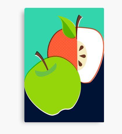 Retro Apple Canvas Print