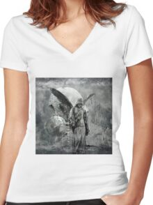 No Title 24 Women's Fitted V-Neck T-Shirt