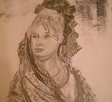 Drawing - after Goya. by Christopher  Raggatt