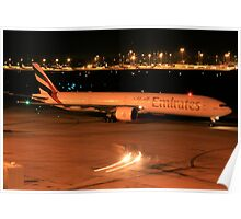 Emirates 77W Heavy - Perth Intl. Airport Poster