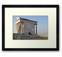 Temple of Athena Nike Framed Print