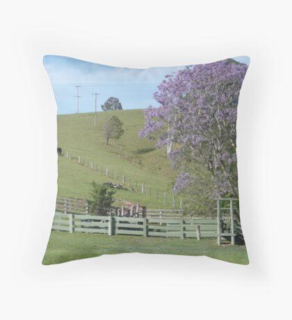 Rural Country near Bellbrook, N.S.W. Australia. Throw Pillow