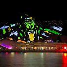 Gorilla Sails - Sydney Opera House - Sydney Vivid Festival by Bryan Freeman