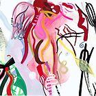 Pink Lillies by Lisa V Robinson