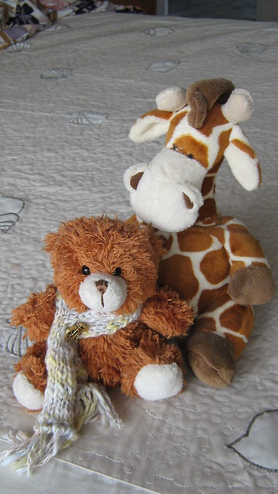 Toy Giraffe and Little Teddy Bear. by Mywildscapepics