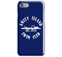 Amity Island Swim Club White iPhone Case/Skin