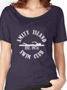 Amity Island Swim Club White Women's Relaxed Fit T-Shirt