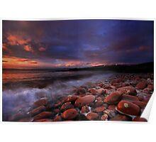 River Clyde Sunrise, Scotland Poster
