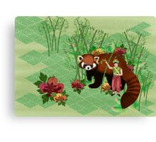 Red Panda Friend Canvas Print