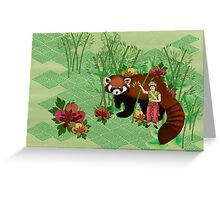 Red Panda Friend Greeting Card