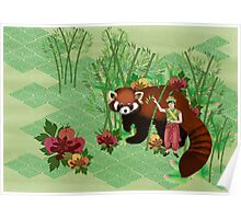 Red Panda Friend Poster