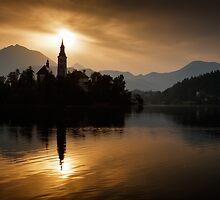 Sunrise at Lake Bled by Ian Middleton