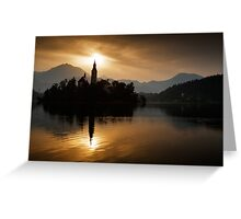 Sunrise at Lake Bled Greeting Card