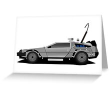 The DeLorean Time Machine, Back to the Future Greeting Card