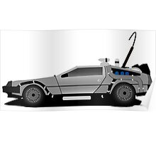 The DeLorean Time Machine, Back to the Future Poster