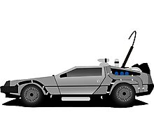The DeLorean Time Machine, Back to the Future Photographic Print