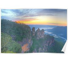Sisters - Blue Mountains World Heritage Area, Sydney - The HDR Experience Poster