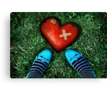 How to mend a broken heart Canvas Print