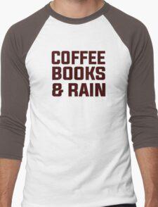 Coffee books & rain Men's Baseball ¾ T-Shirt