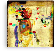 love and gravity Canvas Print