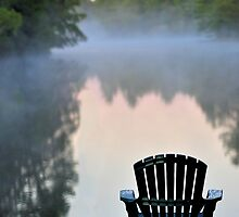 Dock with Chair by Debbie Stobbart