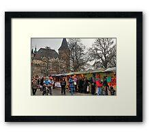 Festival under castle Framed Print
