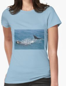 Whales at head of Bight, 2013. Womens Fitted T-Shirt