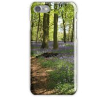 Bluebells in Lower Deans Wood, Oxfordshire iPhone Case/Skin