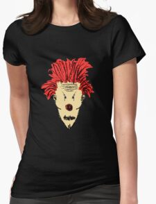 Evil Clown Hand Draw Illustration Womens Fitted T-Shirt