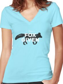 Zero Fox Given Women's Fitted V-Neck T-Shirt